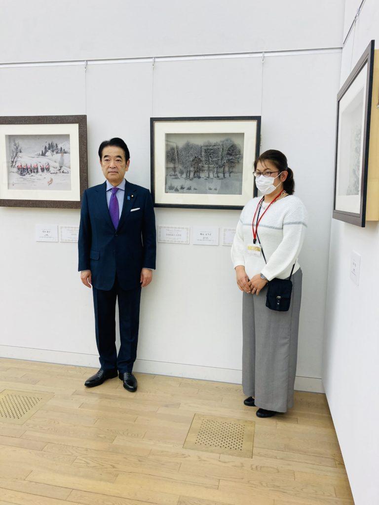北村参議院議員と写真撮影
