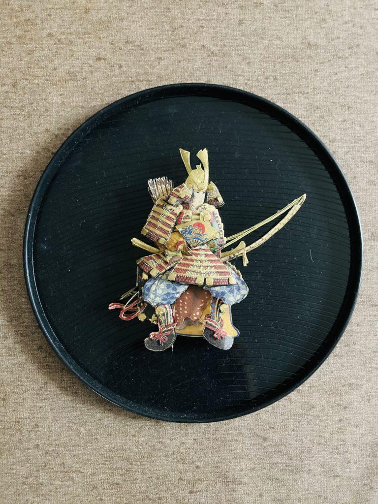 「鎧兜」のシャドーボックス作品