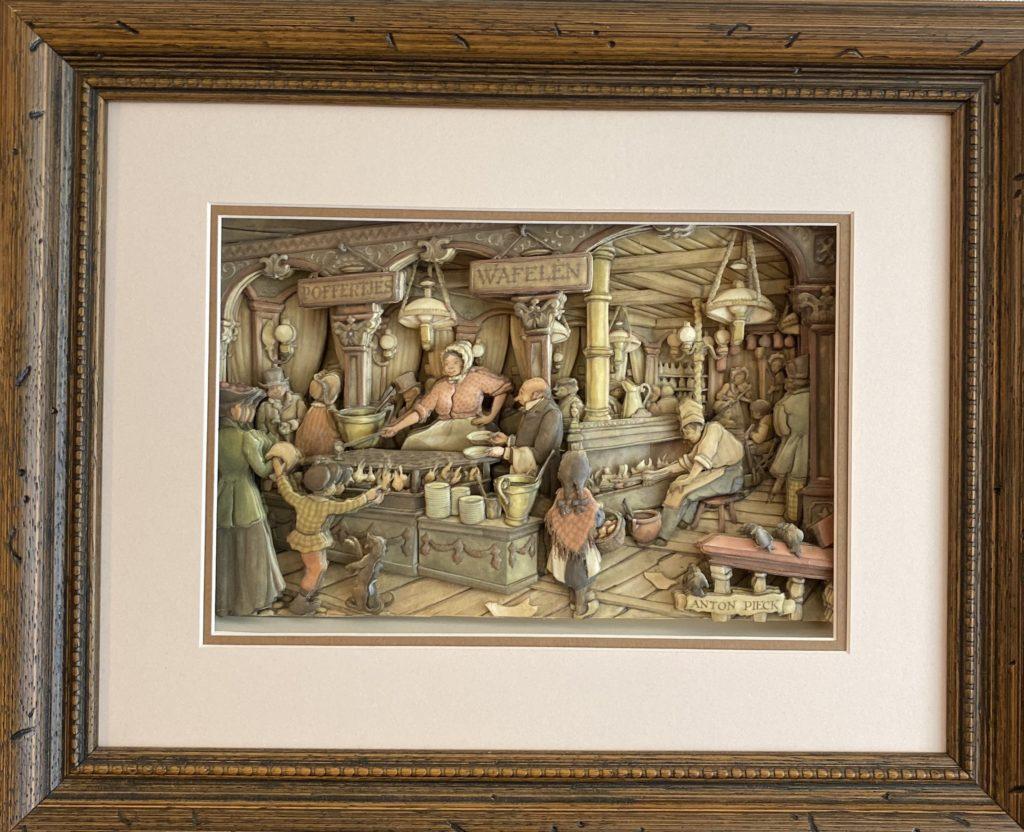 アントンペック「ワッフル屋さん」のシャドーボックス作品