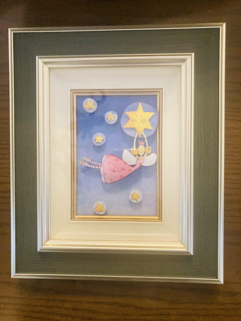 「星の妖精」のシャドーボックス作品