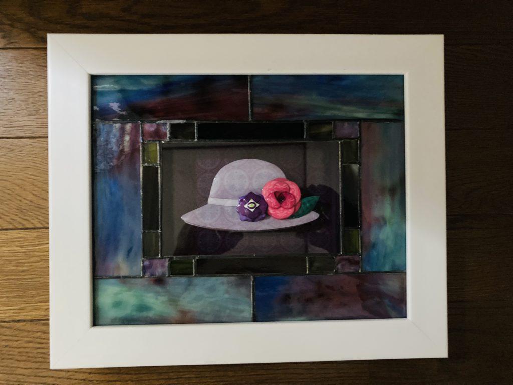 「帽子」のシャドーボックス作品