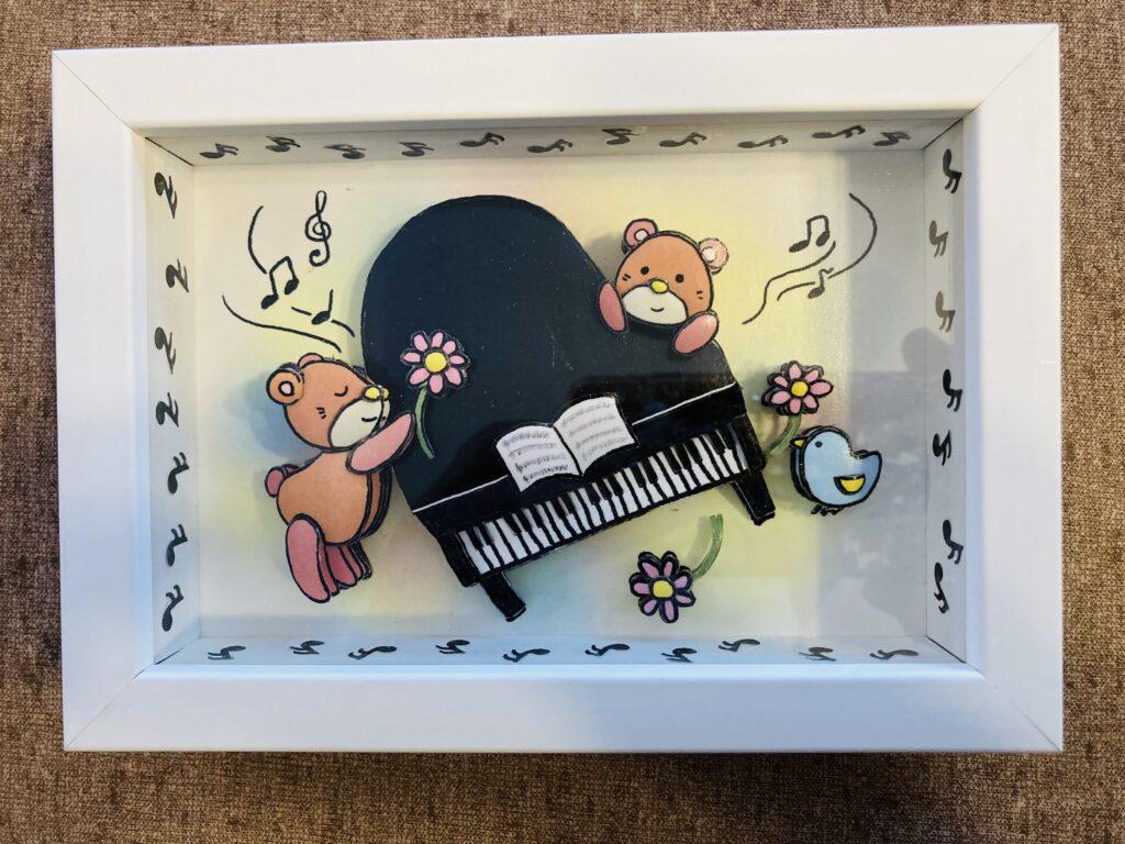 「ピアノ」のシャドーボックス作品  その2