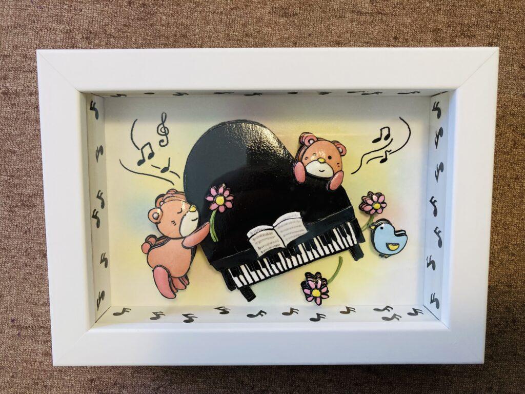 「ピアノ」のシャドーボックス作品 その3