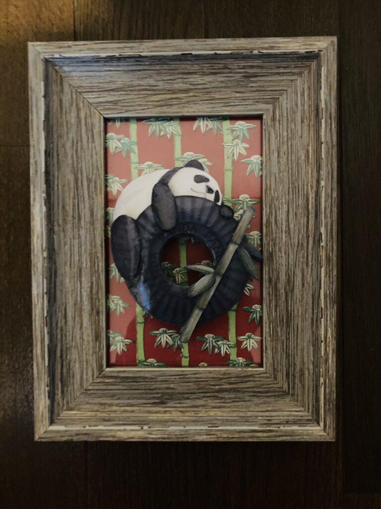 「パンダ」のシャドーボックス作品