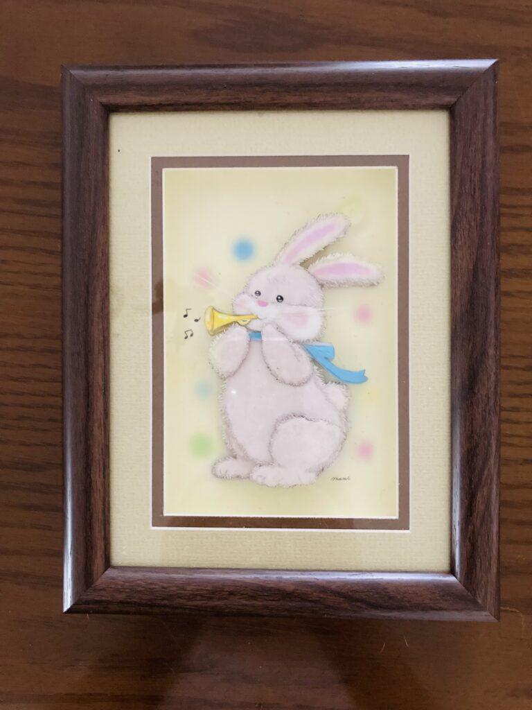 「ウサギ」のシャドーボックス作品